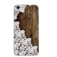 Hey Casey! Dark Mock Wood & Lace Phone Case for iPhone 8