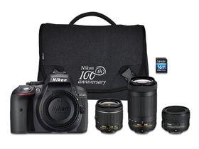 Nikon D5300 DSLR 24.2MP Triple Lens Value Bundle