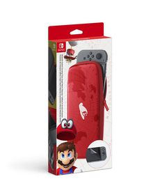 Carrying Case & Screen Protector - Super Mario Odyssey Edition (Nintendo Switch)