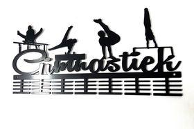 TrendyShop DC Gimnastiek Male Artistic 56 Medal Hanger - Black