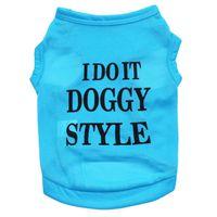 LongeNew I Do It Doggy Style T-Shirt for Dogs - Blue (Size: XS)