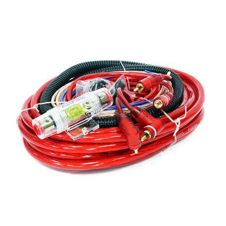 audiofusion 4 gauge professional car audio wiring kit