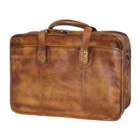 "Fino Genuine Leather 15"" Laptop Bag - Brown"