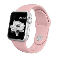 Ökotec Soft Silicone Band for 42mm Apple Watch - Vintage Pink