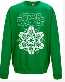 Star Wars: Vader Snowflake Green Sweater (Parallel Import)