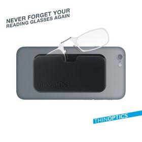 344fa9514e52 ThinOptics Reading Clear Glasses with Clear Pod (2.5 Strength)