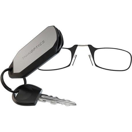 ThinOptics Key Chain with Reading Glasses - Black (2.0 Strength ...