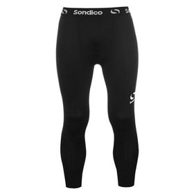 Sondico Men's Core Three Quarter Base Layer Tights - Black
