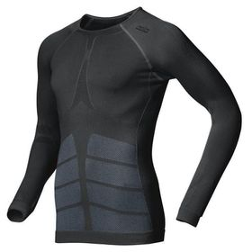 Odlo Men's Long Sleeved Evolution Warm Top - Black
