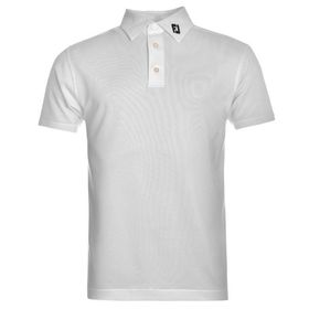 Footjoy Men's Solid Polo Shirt - White