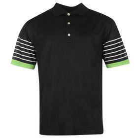 Footjoy Men's Stripe Sleeve Polo Shirt - Black & White