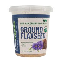 BareOrganics Omega Boost Ground Flaxseed - 340g