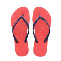 Havaianas Ladies Slim Logo Pop Up Flip Flops - Coral