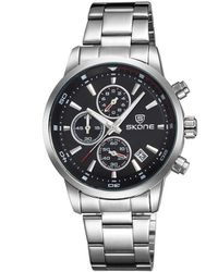 e52619aee37fa Skone Men s Clapham Steel Chronograph Watch