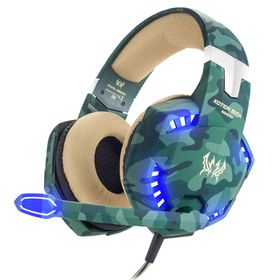 KOTION AOSO PC Gaming Headphones - Camo Green (Parallel Import)