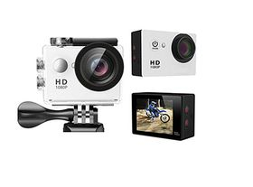 Full HD 1080P Waterproof Sports Action Camcorder - White