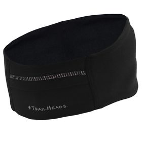 TrailHeads Woemn's Adrenaline Series Performance Ponytail Headband - Black & Reflective