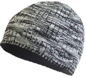TrailHeads Women's Space Dye Knit Ponytail Beanie - Black & White