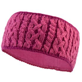 TrailHeads Women's Cable Knit Winter Headband - Light Rose & Raspberry