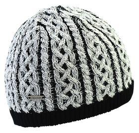 TrailHeads Women's Cable Knit Winter Beanie - Black & White