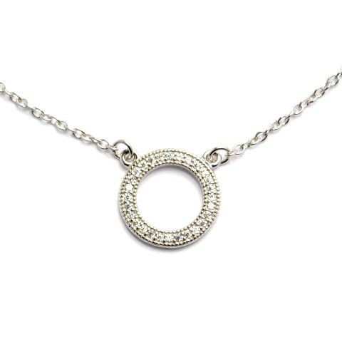Silverbird sterling silver open circle cubic zirconia pendant buy silverbird sterling silver open circle cubic zirconia pendant mozeypictures Image collections