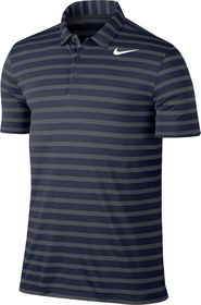 Nike Men's Breathe Stripe Golf Polo Shirt - Navy & Grey