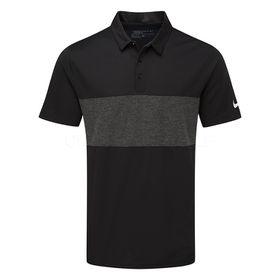 Nike Men's Breathe Colour Block Golf Polo Shirt - Black & Grey