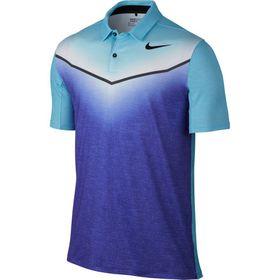 Nike Men's Dri-Fit Mobility Fade Golf Polo Shirt - Paramount Blue & Vivid Sky