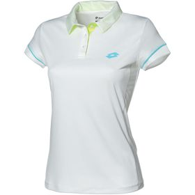 Lotto Women's Shila II Polo Shirt - White & Blue Ski