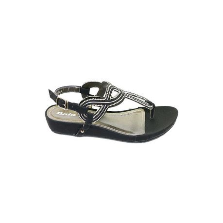 9d069f1eb Bata Ladies Toe Piece Fashion Sandals - Black
