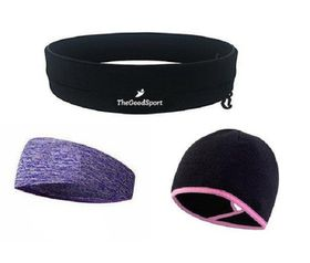 TheGoodSport Ladies Running Set - Black, Purple & Pink (Size: M)