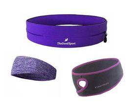 TheGoodSport Ladies Running Set - Purple (Size: L)