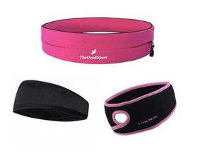 TheGoodSport Ladies Running Set - Pink & Black (Size: L)