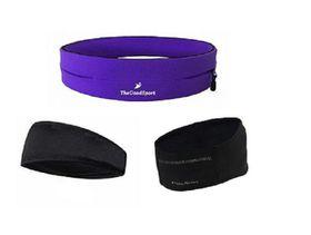 TheGoodSport Ladies Running Set - Purple & Black (Size: S)