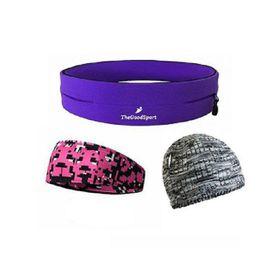 TheGoodSport Ladies Running Set - Purple & Pink (Size: S)