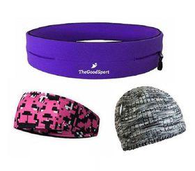 TheGoodSport Ladies Running Set - Purple & Pink (Size: L)