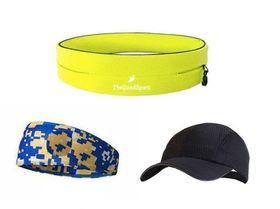 TheGoodSport Ladies Running Set - Yellow & Blue (Size: S)