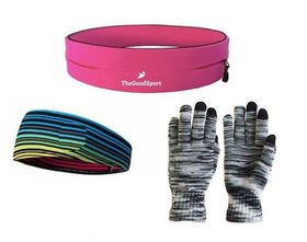 TheGoodSport Jogging Set - Pink, Black & Multi-Colour (Size: M)
