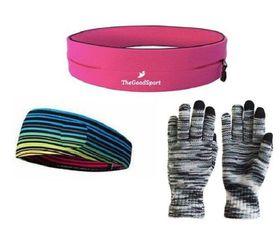 TheGoodSport Jogging Set - Pink, Black & Multi-Colour (Size: L)