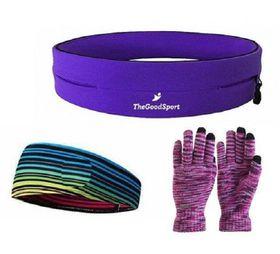 TheGoodSport Jogging Set - Purple & Multi-Colour (Size: L)