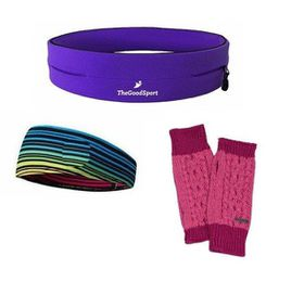 TheGoodSport Jogging Set - Purple & Rose (Size: S)