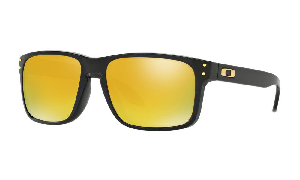 Oakley Holbrook OO9102-E3 Sunglasses - Polished Black with 24K Iridium Lens