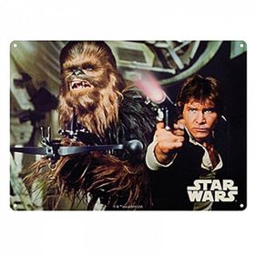 Star Wars: Metal Wall Sign A3 - Han Solo and Chewbacca (Parallel Import)