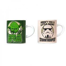Star Wars: Mini Mug Set of 2 - Yoda + Stormtrooper (Parallel Import)