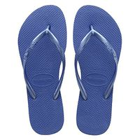 Havaianas Ladies Slim Flip Flops - Light Blue (Size: 37/38) (Size: 5)