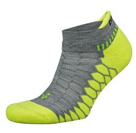 Balega Silver Antimicrobial No-Show Compression-Fit Running Socks - Grey & Lime (Size: M)
