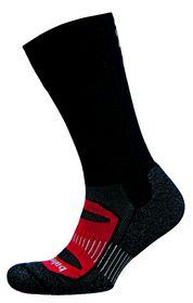Balega Blister Resist Crew Socks - Black & Red (Size: L)