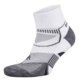 Balega Enduro Quarter Socks Men's - White, Grey & Heather (Size: L)