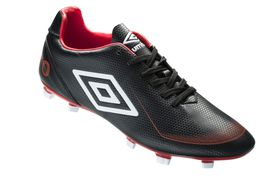 Umbro Kids Veloce Afriq Football Boots - Black, Vermillion & White