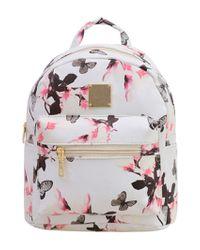 41522dda81 Finesse Allover Vintage Flower Print Backpack - White